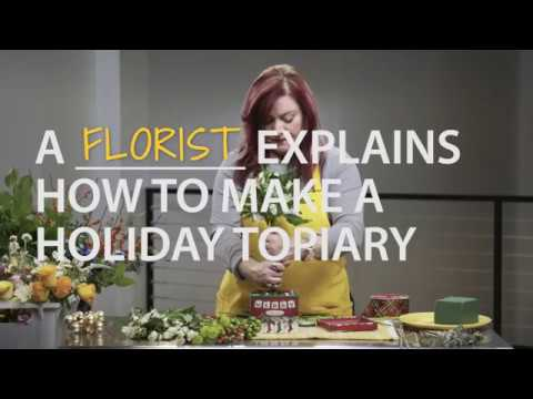 A Florist Explains How to Make a Holiday Topiary