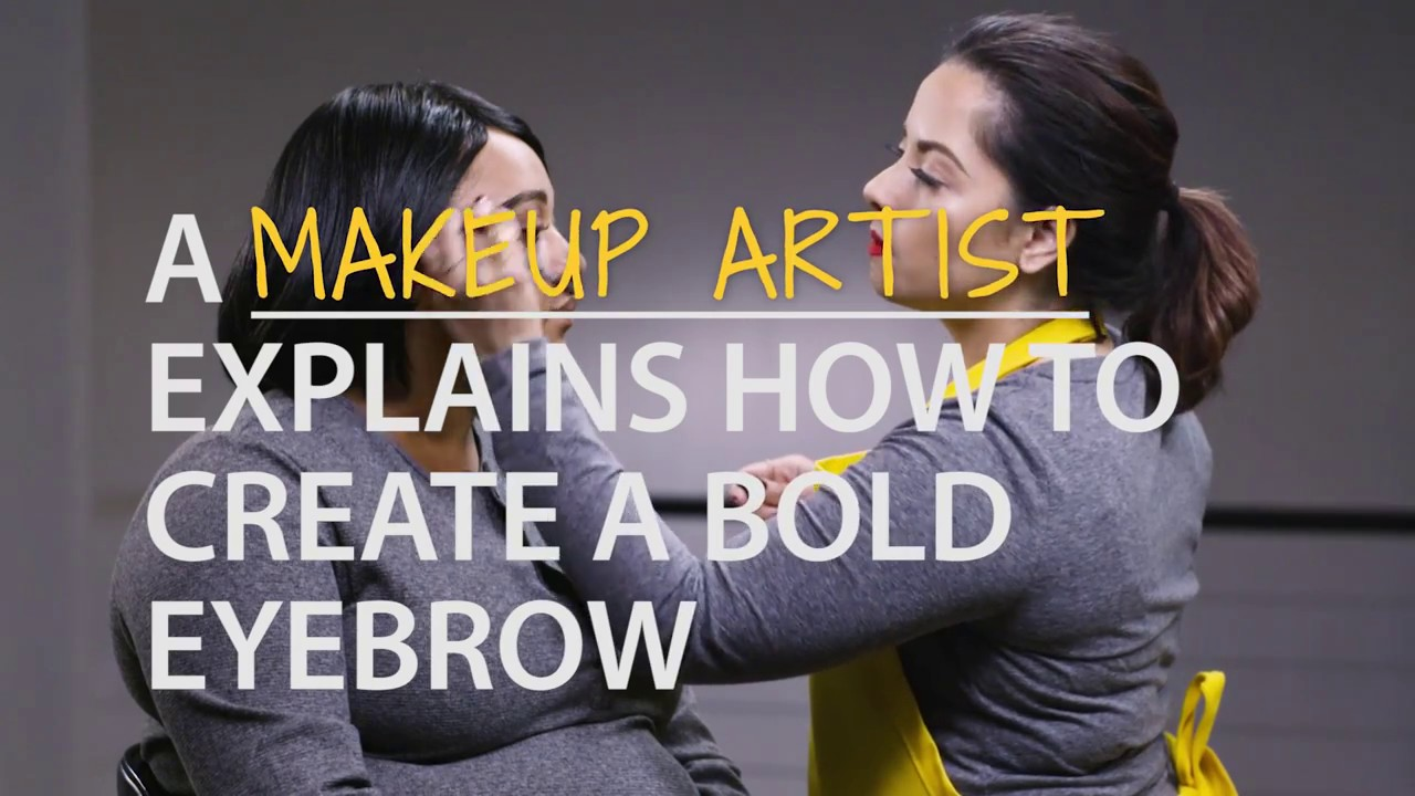 A Makeup Artist Explains How To Create A Bold Eyebrow (1:02min)