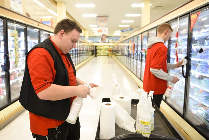 """''We Are Forgotten"""": Grocery Workers Hope for Higher Pay and Vaccinations"""